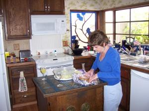 Preparing the bread