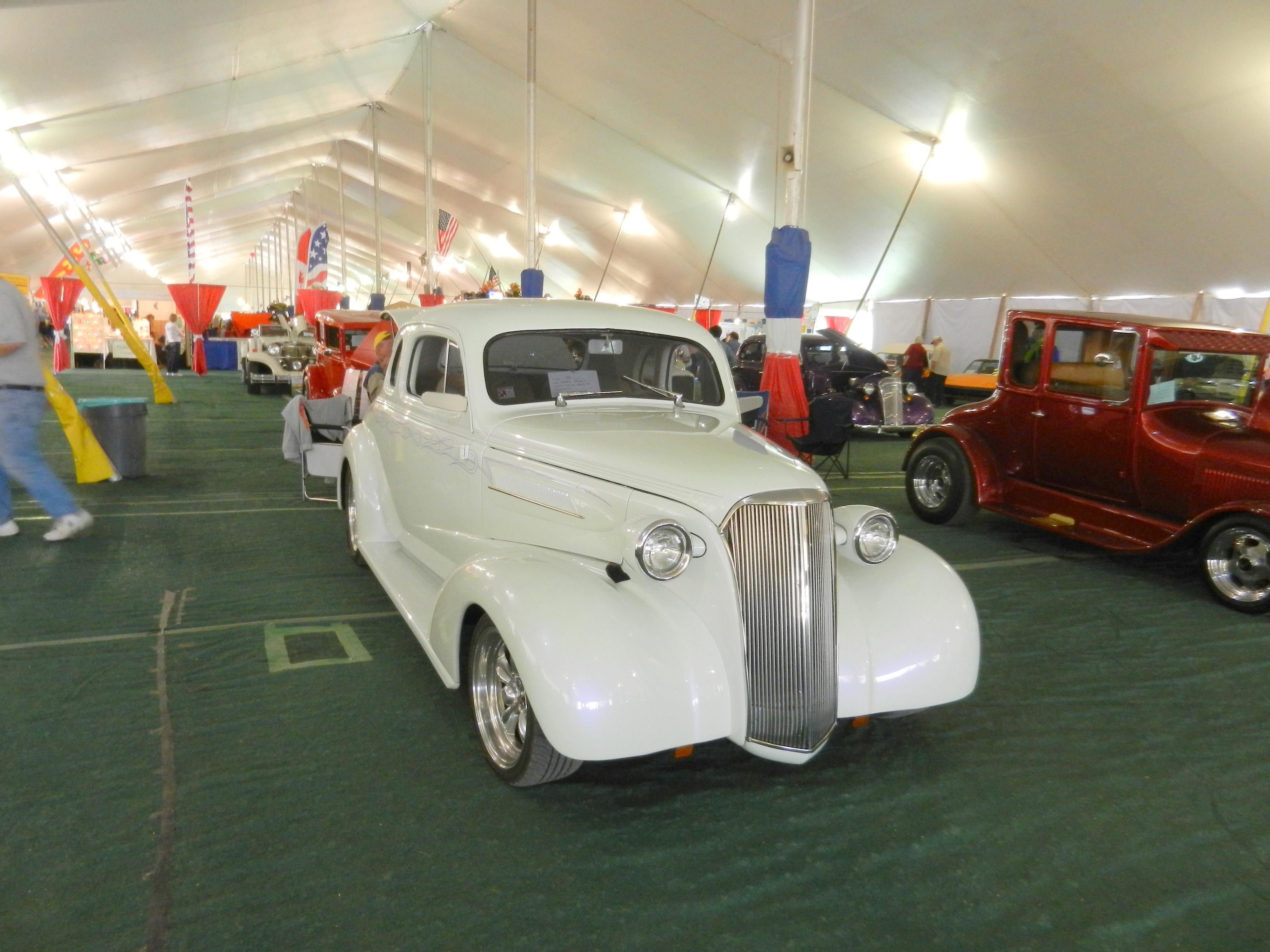Classic Car Show Jimbos Journeys - Car show tent